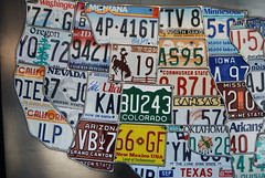 Old License plate Map