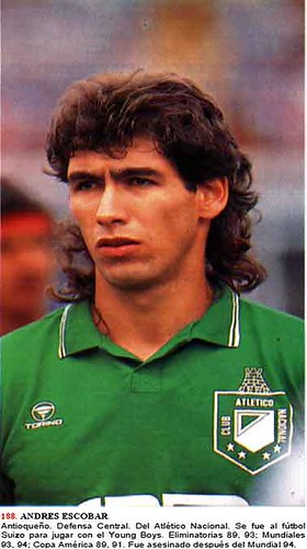 Today I'm going to talk about soccer, or rather futbol. Most of you have probably never heard of Andres Escobar: - 421850925_8d85ebd63a