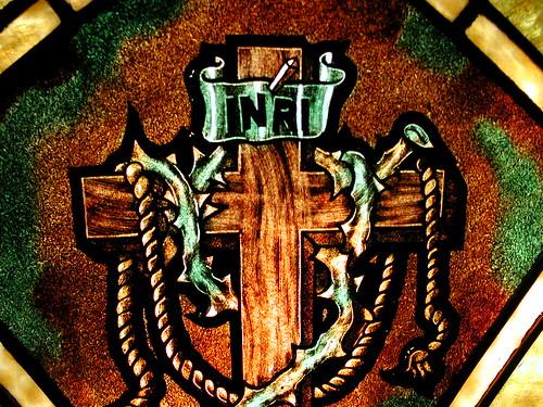 """INRI"" Stainglass Window"