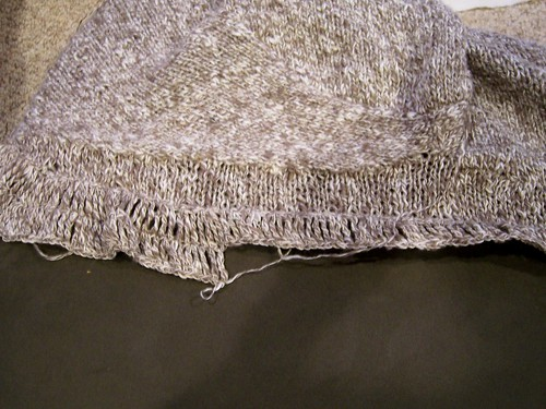 ruffles sweater neckline