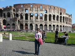 Jess in front of the Colloseum