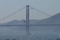 Following the Lines of the Golden Gate (cwgoodroe) Tags: ocean sf show sanfrancisco city bridge blue hot tower wet water by digital airplane bay fly gate san day streak altitude military air airplanes jet engine fast sunny 2006 diamond formation airshow angels goldengate coittower area soaring ist propeller blueangels streaking loud coit pilot francsico soar fleetweek sunnyday mach glide pentaxist godlen fleetweek2006 pental