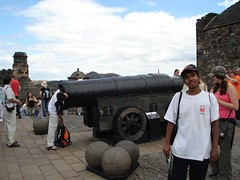 Mons Meg di Edinburgh Castle, Edinburgh, Scotland, United Kingdom