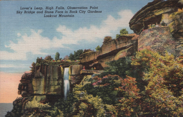1954 Post Card:  Rock City Lovers Leap