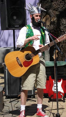 Brian performing.