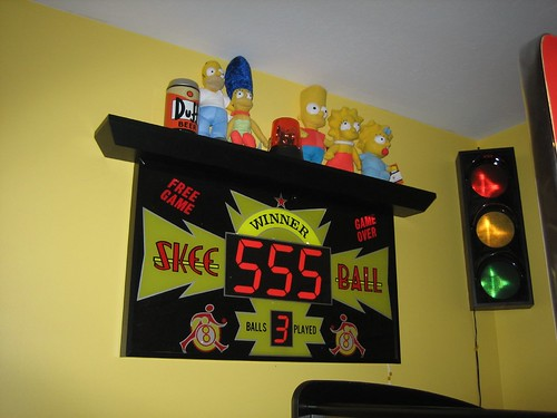 Skeeball Sign with Simpsons