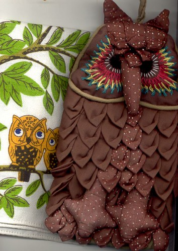 Owl Potholder and Tea Towel
