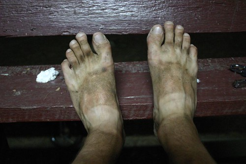 My dirty feet after a day on the motorbike...