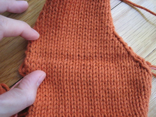 Tangerine Cardi - in progress