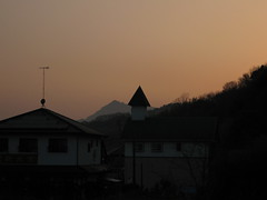 The watch store and Chinese restaurant at dusk (jasonkrw) Tags: japan rural island dusk ogaki setonaikai nearmyhouse etajima 江田島 大柿