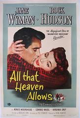 All That Heaven Allows poster (jon rubin) Tags: movieposter rockhudson janewyman douglassirk allthatheavenallows