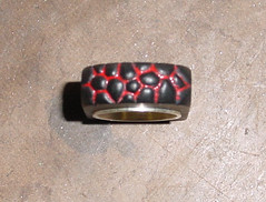 black and red ring 2 (jon m ryan) Tags: art silver aluminum workinprogress craft jewelry ring sterling process anodized jonryan