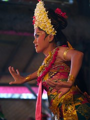 Bali Dancer (Erik K Veland) Tags: travel flowers bali holiday female indonesia dancing traditional dancer traditionaldance phlow:emote=dance
