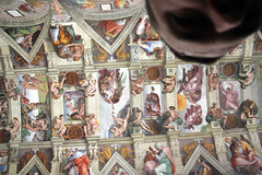 Me and the Sistine Chapel ceiling, Vatican