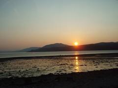 Sunset on Loch Fyne 6 (Owlet2007) Tags: sunset sky beach water scotland scenery hills shore rays loch fyne flickrsbest isawyoufirst