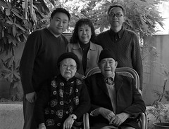 Pan Family Portrait (Ivan Pan) Tags: grandma bw me mom roc dad taiwan grandpa familyportrait chiayi