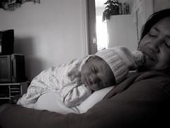 baby josh and great-grandma sissy (julie melissa) Tags: baby josh sissy fourweeksold
