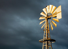 Stormy Skies (Todd Klassy) Tags: ranch old travel light sky sunlight color colour history tourism water windmill weather yellow metal horizontal wisconsin rural dark outdoors golden spring energy mechanical wind top farm ominous foreboding steel country farming machine stormy visit lookingup well electricity environment agriculture waterpump tornado hue wi thunder turbine blades windturbine oldfashioned ranching stormyweather windenergy darksky pumping axle renewableenergy stockphotography windpump industrialization approachingstorm agribusiness colorimage aermotor steelstructure ruralscene nonurbanscene cleanenergy latticetower ruralwisconsin lifeonafarm wisconsinphotographer bakermanufacturingcompany bakermonitor toddklassy wisconsinlandscapephotographer