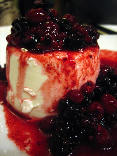 a panna cotta with frutti di bosco (forest berries)