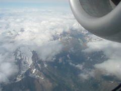 06-20-04 Prague to Italy to Geneva 0010 (clare_and_ben) Tags: alps airplane jet alitalia