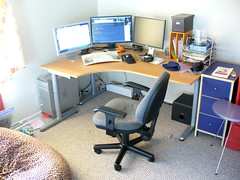 New home desk area