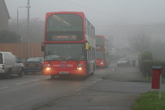 2006-12-21_13-00-50 (djp3000) Tags: bus fog gedling nottinghamcitytransport nct red 44 45 nottingham go2 scania scaniaomiidehha nct674