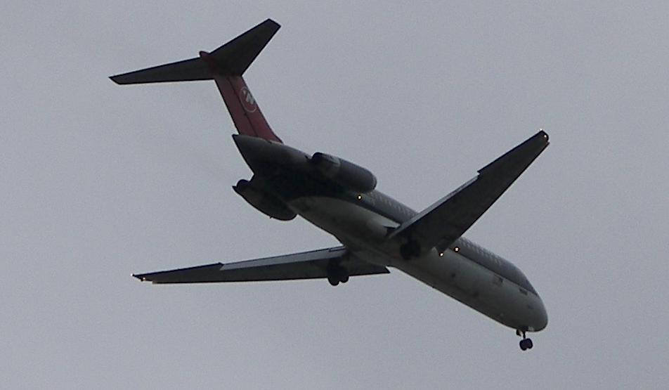 Northwest Airlines jet near Detroit Metro Airport (DTW)