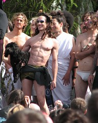 Hunky Jesii (RCoshow) Tags: sanfrancisco gay shirtless dog muscles festival easter underwear jesus sunday contest abs sixpack dolorespark bulge sistersofperpetualindulgence hunkyjesus coshow sfchronicle96hrs