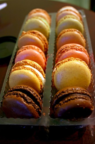 The macarons; unwrapped