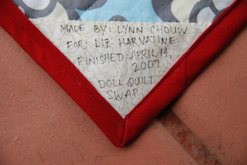 Doll Quilt Label