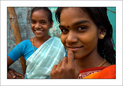The Dalit beauties of Madurai (yanseiler) Tags: world travel girls portrait india smile work canon women asia backpack 5d canon5d madurai tamilnadu outcast independant dalit caste dahlit