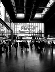 Have a COKE (mijunique) Tags: shadow people urban bw silhouette reflections munich mnchen blackwhite shadows streetphotography hauptbahnhof stadt streetphoto