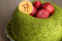 wild strawberry cake (cathou_cathare) Tags: paris france green cake vert patisserie pastry wildstrawberry gateau cakeshop bavariancream pierreherm bavarois fraisedesbois