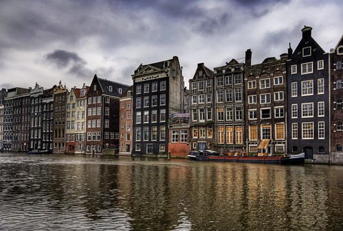 The nice houses in Amsterdam