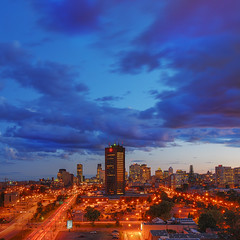 Evening On CBC Montreal Skyline | davidgiralphoto.com (David Giral | davidgiralphoto.com) Tags: longexposure bridge blue sky urban chien canada david cars skyline night landscape lights evening nikon highway bravo long exposure downtown boulevard cityscape searchthebest quebec dusk montreal royal churches cartier notredame hour highrise pont entre loup bluehour autoroute d200 et jacques mont soe hdr heure villemarie giral magique 3xp nikond200 18200mmf3556gvr entrechienetloup tthdr copyrightdgiral davidgiral impressedbeauty aplusphoto diamondclassphotographer flickrdiamond bratanesque superaplus