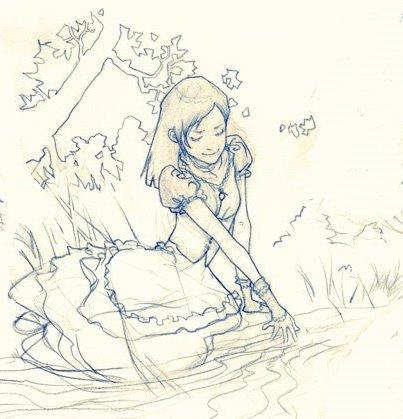 Alicia en la orilla