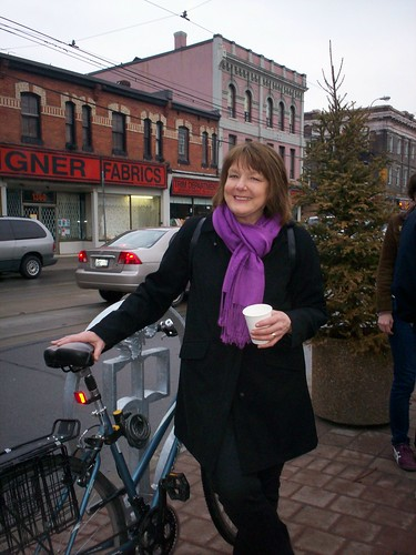 peggy nash with her bike