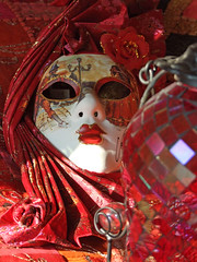 venetian mask (Steel Steve) Tags: red stilllife crimson mask coolest 10faves flickrplatinum 1on1colorful superhearts