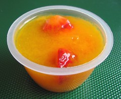 Vegetarian juice jello cups with agar-agar