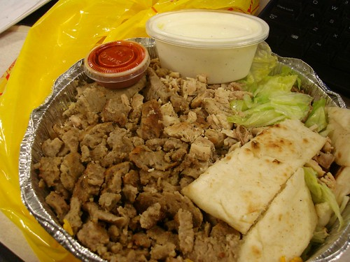 Mixed Combo @ the famous Chicken & Rice Cart on 53rd & 6th Ave.