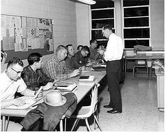 Students on Break-Mid 1960s (Library @ Randolph Community College) Tags: north carolina asheboro randolphcommunitycollege randolphindustrialeducationcenter
