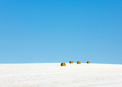 4 Round Bales (www.toddklassy.com) Tags: christmas travel blue winter light sky snow abstract cold color art classic beautiful field horizontal wisconsin rural landscape outdoors four design daylight midwest artistic snowy farm horizon fineart country hill january freezing sunny bluesky nobody vision round backgrounds hay copyspace agriculture minimalism hayfield bales wi hilltop clearsky artistry farmfield stockphotography overthehill calendarphoto balesofhay countryscene rurallife royaltyfree newgl