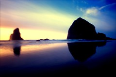 ~ Oceans of Heartbreak (Thank you, Bonnie Raitt) (Mackeson) Tags: seascape film oregon landscape pinhole cannonbeach haystackrock zeroimage zero69 mackeson zeroimage69