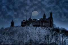 The haunting ... (nixArt [almost no internet]) Tags: winter moon snow cold castle art ice night clouds germany knight haunting hdr burg ritter gespenst hohenzollern 2xp burghohenzollern onlythebest p1f1 nixart