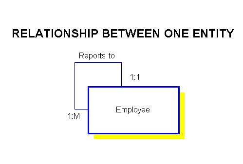 Understanding relationships in e r diagrams some relationships involve only one entity for example employee reports to employee ccuart Gallery