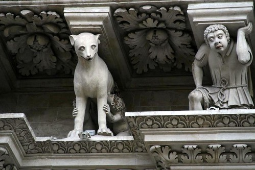 Detail, Santa Croce - with Romulus and Remus, maybe