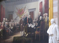 James Madison Statue and Declaration of Independance painting