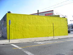 Sad... (shoehorn99) Tags: yellow queens lic paintover