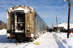 Canada - Manitoba - Thompson (Chris&Steve) Tags: snow canada station train rail railway manitoba via northamerica viarail passenger thompson 5photosaday 10millionphotos hudsonbayrailway 5halloffame v900i