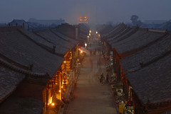 Pingyao (77dmj) Tags: china street longexposure night shopping interestingness interesting view dusk belltower shops ghosts pingyao interestingness112 i500 i112 77dmj